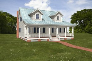 House Blueprint - Farmhouse Exterior - Front Elevation Plan #497-6