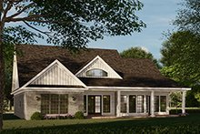 Home Plan - Traditional Exterior - Rear Elevation Plan #17-2693