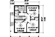 Cabin Style House Plan - 3 Beds 1 Baths 1248 Sq/Ft Plan #25-4849 Floor Plan - Main Floor Plan