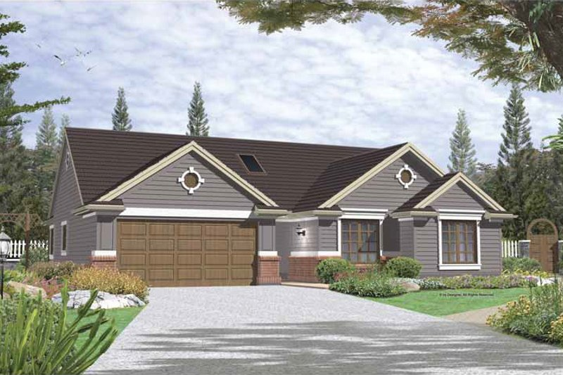 Architectural House Design - Traditional Exterior - Front Elevation Plan #48-122