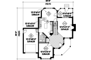 Victorian Style House Plan - 3 Beds 1 Baths 1856 Sq/Ft Plan #25-4763 Floor Plan - Main Floor Plan