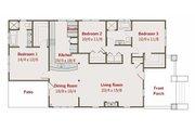 Craftsman Style House Plan - 3 Beds 2 Baths 1590 Sq/Ft Plan #461-20 Floor Plan - Main Floor Plan