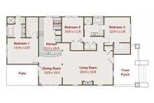 Craftsman Floor Plan - Main Floor Plan Plan #461-20
