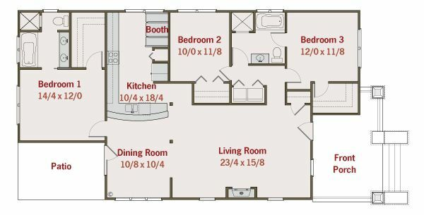 Craftsman Floor Plan - Main Floor Plan Plan #461-20