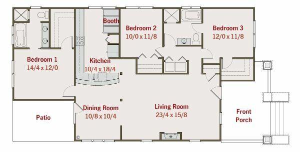 Craftsman Floor Plan - Main Floor Plan #461-20