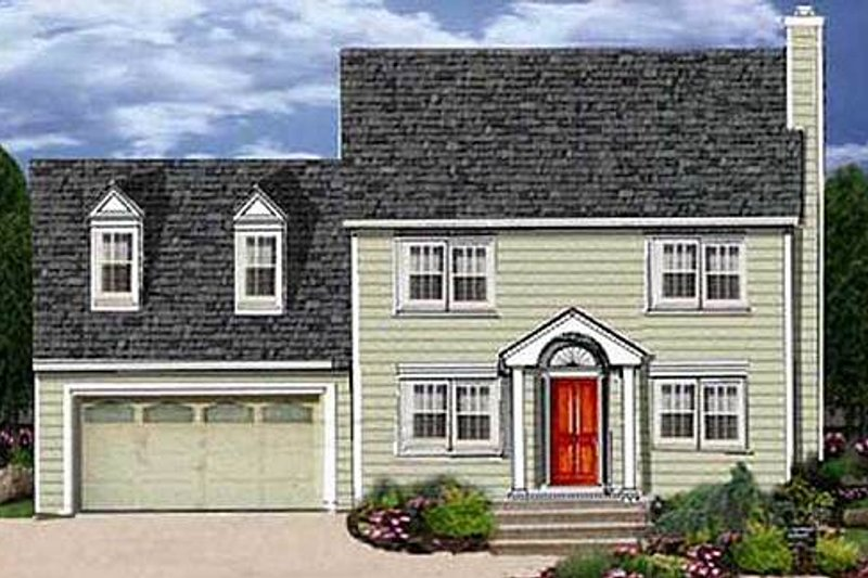 Colonial Exterior - Front Elevation Plan #3-137