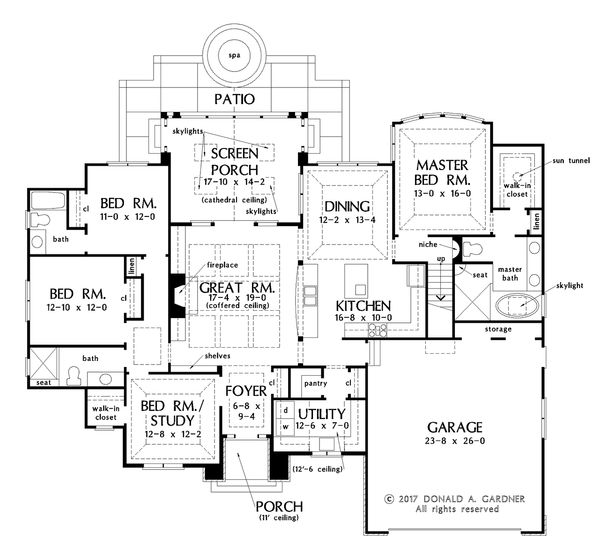House Plan Design - European Floor Plan - Main Floor Plan #929-1028