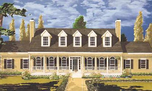 Southern Exterior - Front Elevation Plan #3-223