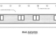 Home Plan - Traditional Exterior - Rear Elevation Plan #100-107