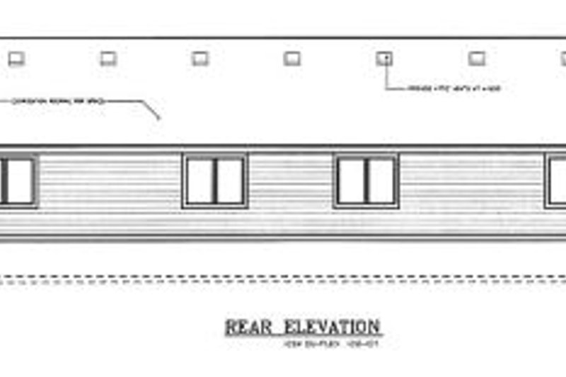 Traditional Exterior - Rear Elevation Plan #100-107 - Houseplans.com