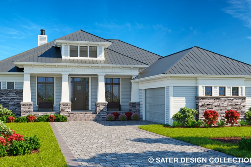 Craftsman Style House Plan - 3 Beds 2 Baths 2250 Sq/Ft Plan #930-499 Exterior - Front Elevation