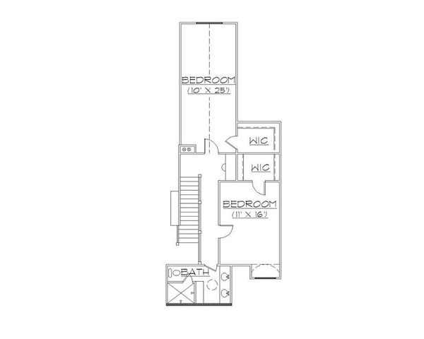 European Floor Plan - Upper Floor Plan Plan #5-398