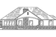 Traditional Style House Plan - 3 Beds 2.5 Baths 1608 Sq/Ft Plan #5-110 Exterior - Rear Elevation