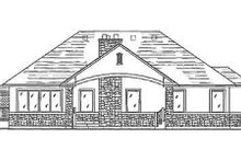 Home Plan - Traditional Exterior - Rear Elevation Plan #5-110