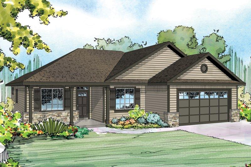 Ranch Exterior - Front Elevation Plan #124-939 - Houseplans.com