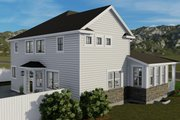 Craftsman Style House Plan - 3 Beds 2.5 Baths 2438 Sq/Ft Plan #1060-65 Exterior - Other Elevation