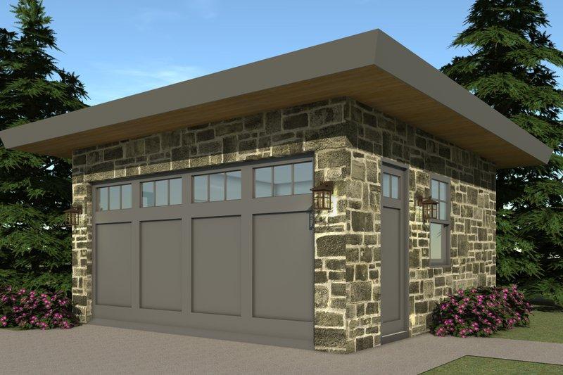 Modern Exterior - Other Elevation Plan #64-194 - Houseplans.com