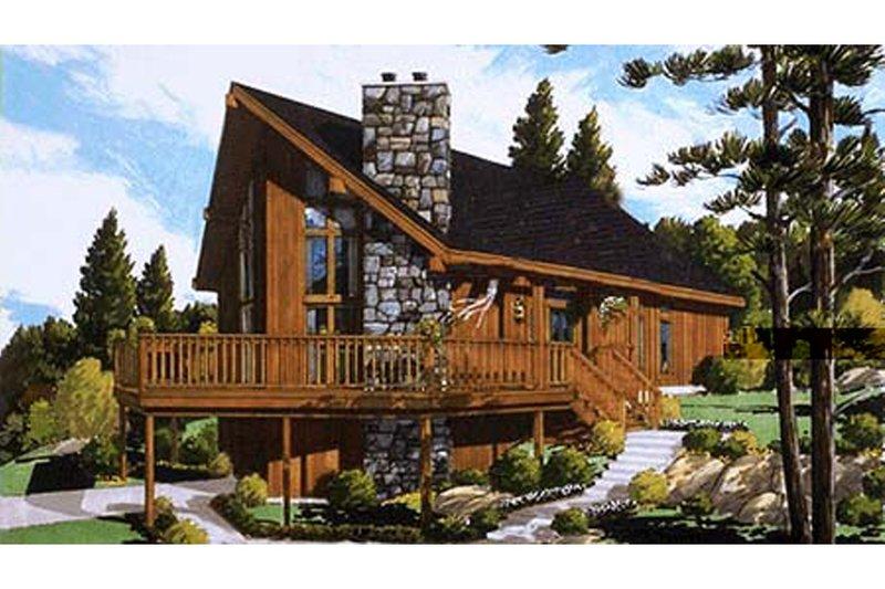 European Style House Plan - 3 Beds 2 Baths 1468 Sq/Ft Plan #3-290
