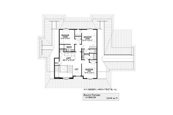 Home Plan - Farmhouse Floor Plan - Upper Floor Plan #928-350