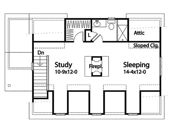 Country Floor Plan - Upper Floor Plan #22-603