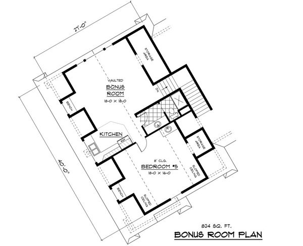 European Floor Plan - Upper Floor Plan Plan #51-338