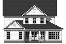 Country Exterior - Rear Elevation Plan #21-321