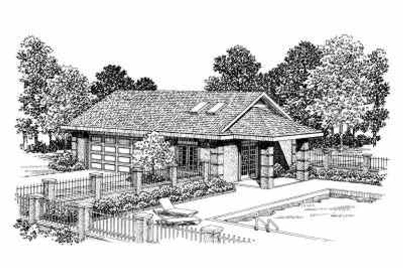 Traditional Exterior - Front Elevation Plan #72-275 - Houseplans.com