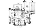 Southern Style House Plan - 3 Beds 2.5 Baths 2387 Sq/Ft Plan #310-616 Floor Plan - Main Floor Plan