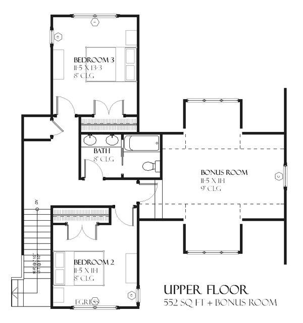 Traditional Floor Plan - Upper Floor Plan #901-66