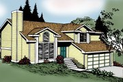 Traditional Style House Plan - 4 Beds 3 Baths 1128 Sq/Ft Plan #87-303 Exterior - Front Elevation