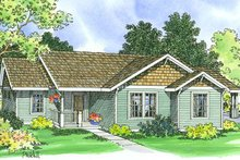Home Plan - Traditional Exterior - Front Elevation Plan #124-359