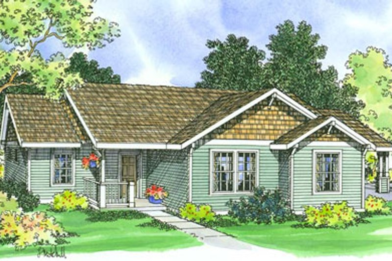 Traditional Exterior - Front Elevation Plan #124-359 - Houseplans.com