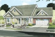 Cottage Style House Plan - 3 Beds 2 Baths 1788 Sq/Ft Plan #513-2049 Exterior - Front Elevation