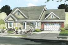 Dream House Plan - Cottage Exterior - Front Elevation Plan #513-2049