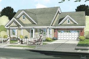Cottage Exterior - Front Elevation Plan #513-2049