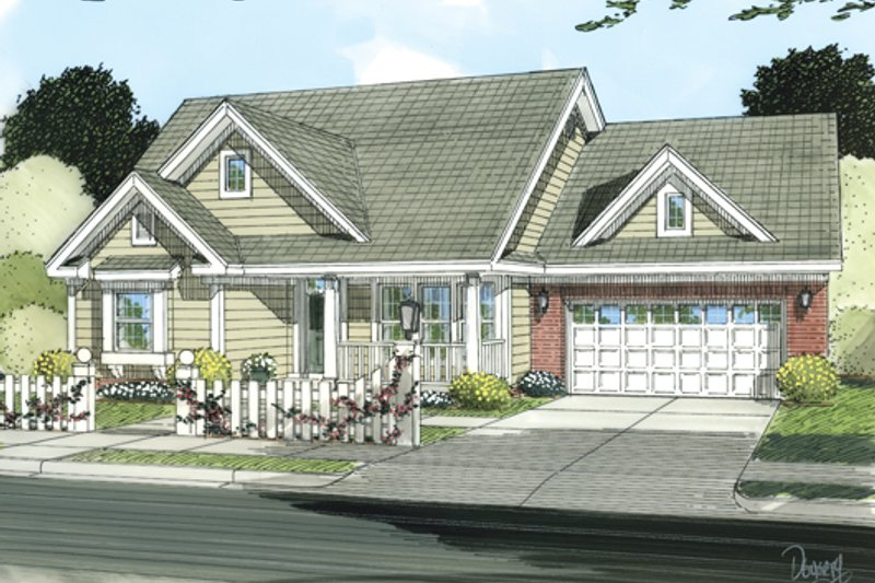 Home Plan - Cottage Exterior - Front Elevation Plan #513-2049