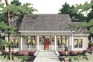 House Plan Design - Southern Exterior - Front Elevation Plan #406-284