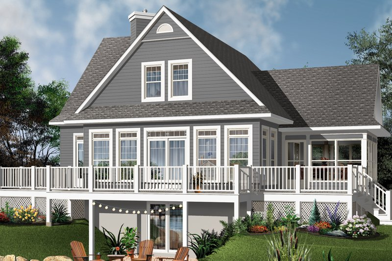 Dream House Plan - Contemporary Exterior - Rear Elevation Plan #23-2317