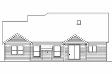 House Plan Design - Craftsman Exterior - Rear Elevation Plan #124-564