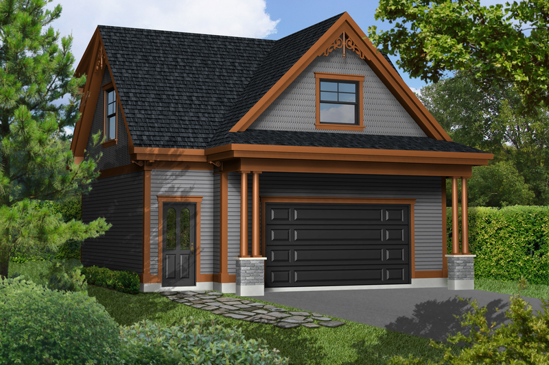 Traditional Style House Plan - 0 Beds 0 Baths 528 Sq/Ft Plan #25-4755