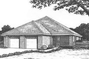 Traditional Style House Plan - 2 Beds 2 Baths 2242 Sq/Ft Plan #310-436 Exterior - Front Elevation
