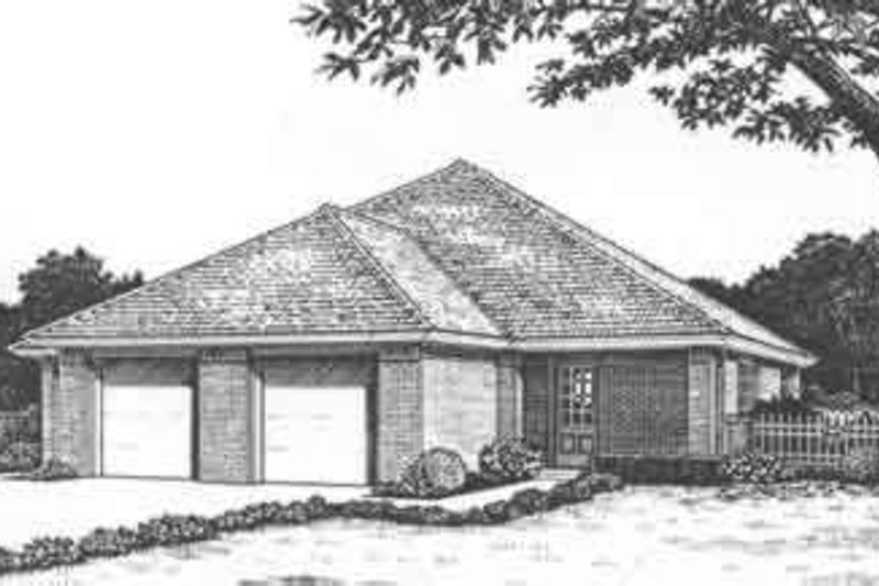 Home Plan - Traditional Exterior - Front Elevation Plan #310-436