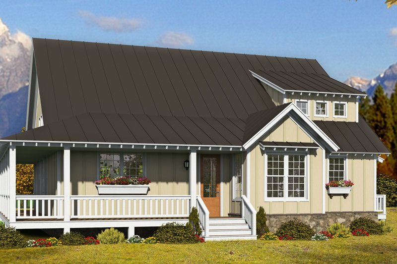 Country Exterior - Front Elevation Plan #932-311