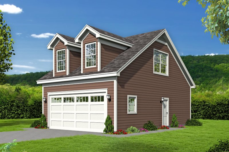 Country Exterior - Front Elevation Plan #932-244