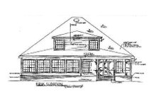 Home Plan Design - Southern Exterior - Rear Elevation Plan #14-203