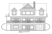 Craftsman Style House Plan - 4 Beds 4.5 Baths 4667 Sq/Ft Plan #117-873 Exterior - Rear Elevation