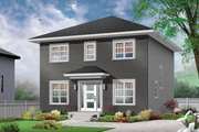 Traditional Style House Plan - 3 Beds 1.5 Baths 1680 Sq/Ft Plan #23-2625 Exterior - Front Elevation