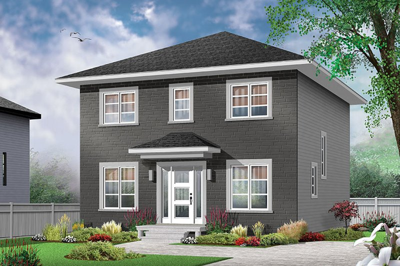 Architectural House Design - Traditional Exterior - Front Elevation Plan #23-2625