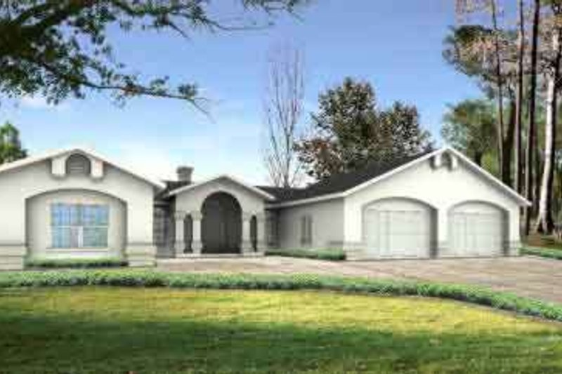 Traditional Style House Plan - 3 Beds 2.5 Baths 2334 Sq/Ft Plan #1-1171 Exterior - Front Elevation