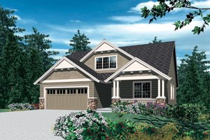 Craftsman Exterior - Front Elevation Plan #48-609